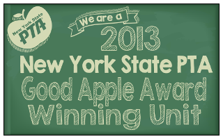 Our school has earned the PTA Good Apple Award!